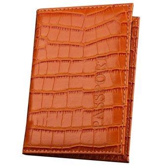 Ormano Cover Dompet Paspor Croco Exclusive - Coklat