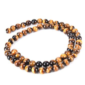 Harga 6mm Tigea Eyes Beads Natural Stone Tigerite Tiger Eye Beads For DIY Bracelet - intl