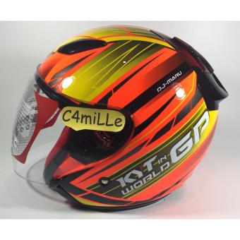 Harga HELM KYT DJ MARU WORD GP READY #02 RED FLUO CR YELLOW HALF FACE