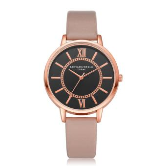 Harga Yika Women Artificial Leather Quartz Watch - intl