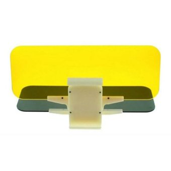 Harga Whiz 2 ini 1 Anti-Dazzle Mirrors in Car for Day and Night - Car Visor Anti Silau - Kuning Abu