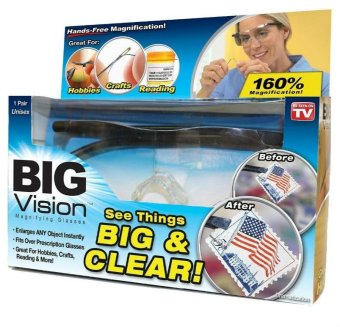Harga Hot As Seen On TV Big Vision Magnifying Eyewear Glasses See 250 /160 Degrees More Better Reading Glasses - intl