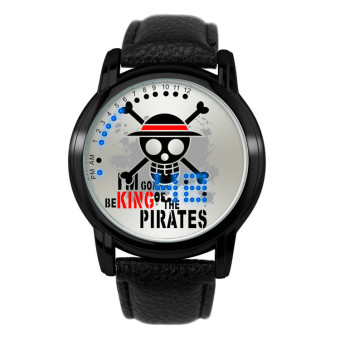 Harga 'Anime LED Touching Screen Waterproof 100M Boys'' Fashion Watches(Color:ONE PIECE) - intl'