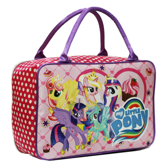 BGC Travel Bag Kanvas My Little Pony Pinkie PieKotak Kotak Purple Rainbow. Source · Harga Onlan My Little Pony Polkadot Travel Bag Bahan Satin Halus New ...