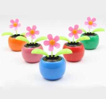 32e884dd884d OEM Solar Power Flip Flap Flower For Auto Car Home Ornament Flower Toy Gift