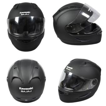 Harga Kawasaki Helm Full Face Bajaj (Black Doff) | Helm Full Face