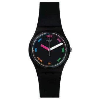 Strap Multi Colour Source · Swatch Jam Tangan Wanita Hitam Hitam Rubber Hitam .