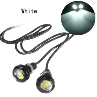 Harga 1 Pair Pure White 10W 5630 LED Eagle Eye Lamp Car Up Reverse Lamp Interior Door Decorative Lights - intl