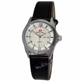 Swiss Army - SA0112 - Jam Tangan Wanita - Strap Kulit - Silver