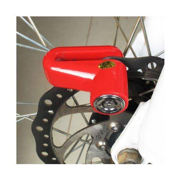 Indo Dealz Pengcheng Lock Bicycle Motorbike Motorcycle KunciPengaman Gembok Sepeda Motor Merah