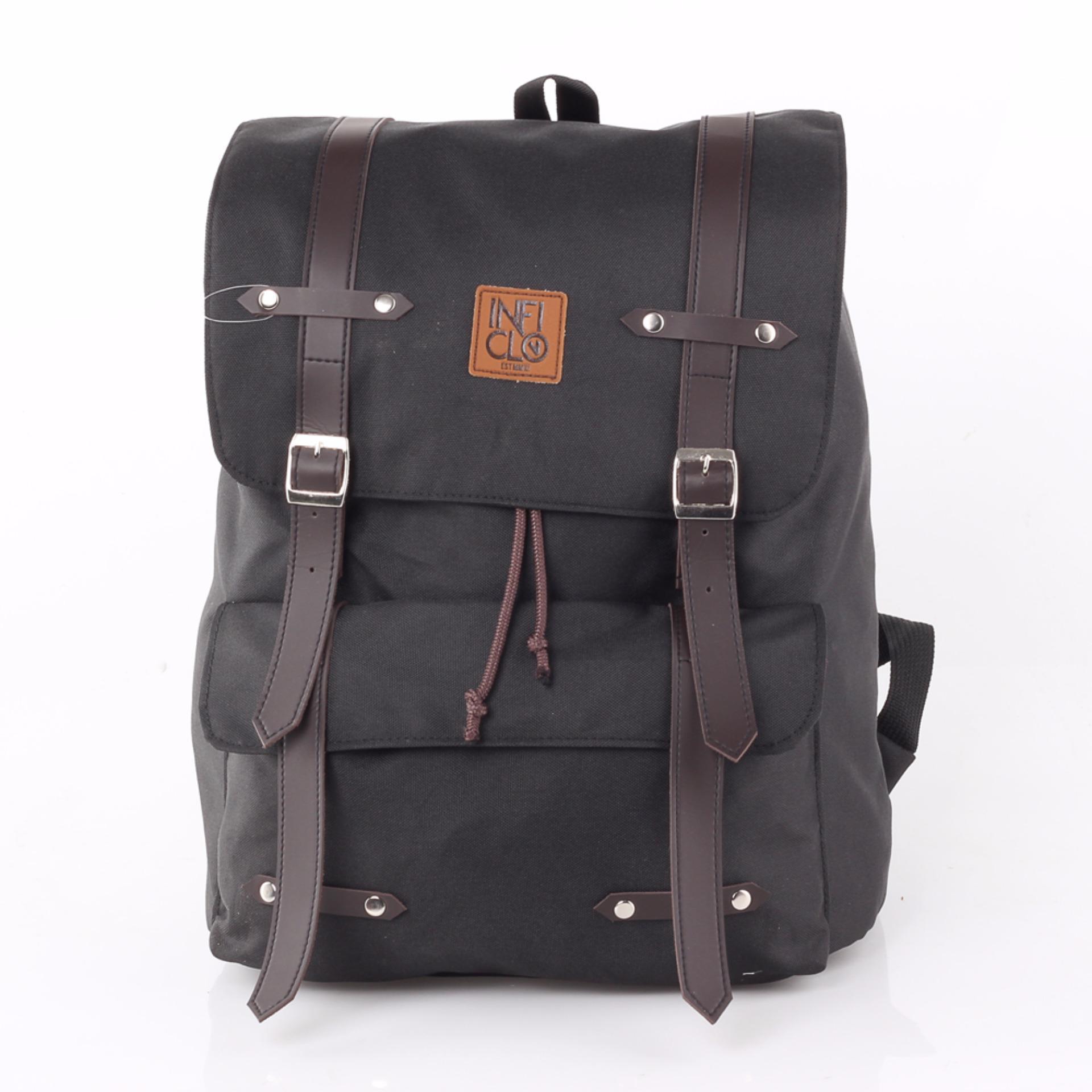 Dimensi 30x39x15 Inficlo Backpack/ tas laptop/best seller/ Tas Ransel SCPx171 Brown Valen