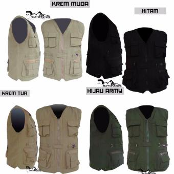Jaket Rompi Army Outdoor Hitam (Motor, Mancing, Safety, Militer,Airsoft,