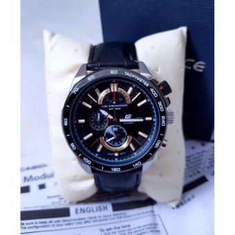 Jam Tangan Casioo Edifice EFR 520L - 1Av Leather Black