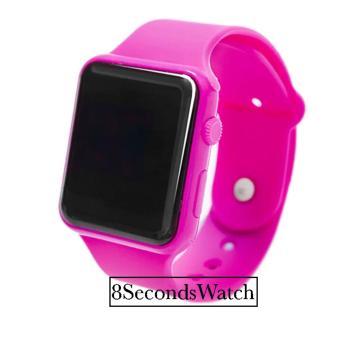 Jam Tangan LED - Jam Tangan Pria dan Wanita - Strap Karet - Merah Muda -
