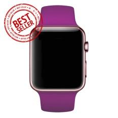 Jam Tangan LED - Jam Tangan Pria dan Wanita - Strap Karet - Pink Gold - Apple_Pink_RoseGold