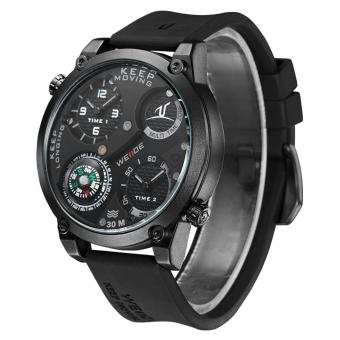 Jam Tangan Pria Anti Air Original Weide Sporty Kompas Black