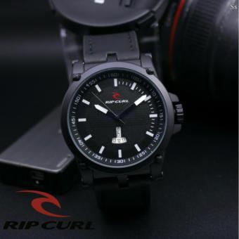 Jam Tangan Pria - RipCurl - Hari & Tanggal Aktif - BlackLeather Strap