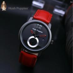 Jam Tangan Pria/Wanita H'ush Pupies Red leather strap