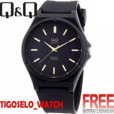 Jam Tangan Q&Q Pria - QQ8779-AJ - analog - anti air - Tali Rubber Strap