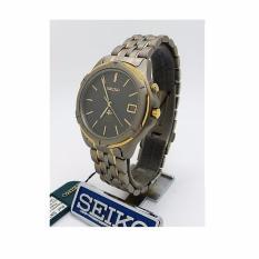 Jam tangan Seiko Kinetic SKH004 strap Titanium Abu-abu