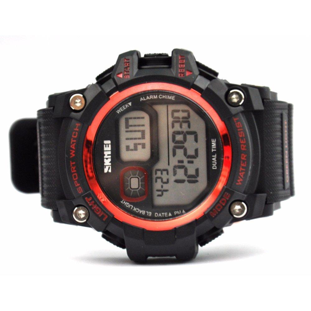 Hot Deals Jam Tangan Sport Digital Skmei Ori Bukan G Shock Kw Casio 1229 Red