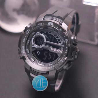 Jam Tangan Sport Pria Digitec DG 3053 T Dual Time Original Anti Air - Full Hitam