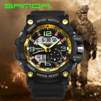Harga Terendah Jam tangan tahan air SANDA merek Watch 759 otomatis Fashion priadual layar pasukan militer