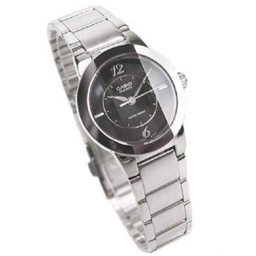Casio Ltp 1230d 7cdf Jam Tangan Wanita Silver Stainless Steel 2085rg 1avdf Enticer Ladies Black Dial