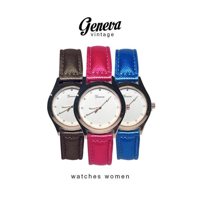 Jam Tangan Wanita Geneva Tacyra Strap Glossy 5 Warna