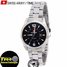 Jam Tangan Wanita - Swiss Army SA330RS Strap Stainless Steel - Tanggal Aktif