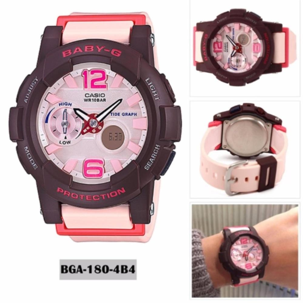 Jam Tangan Wanita Baby G Bga180 Tousca Super Premium Harga Casio Bgs 180 3b Putih Tali Gelang Karet Bga