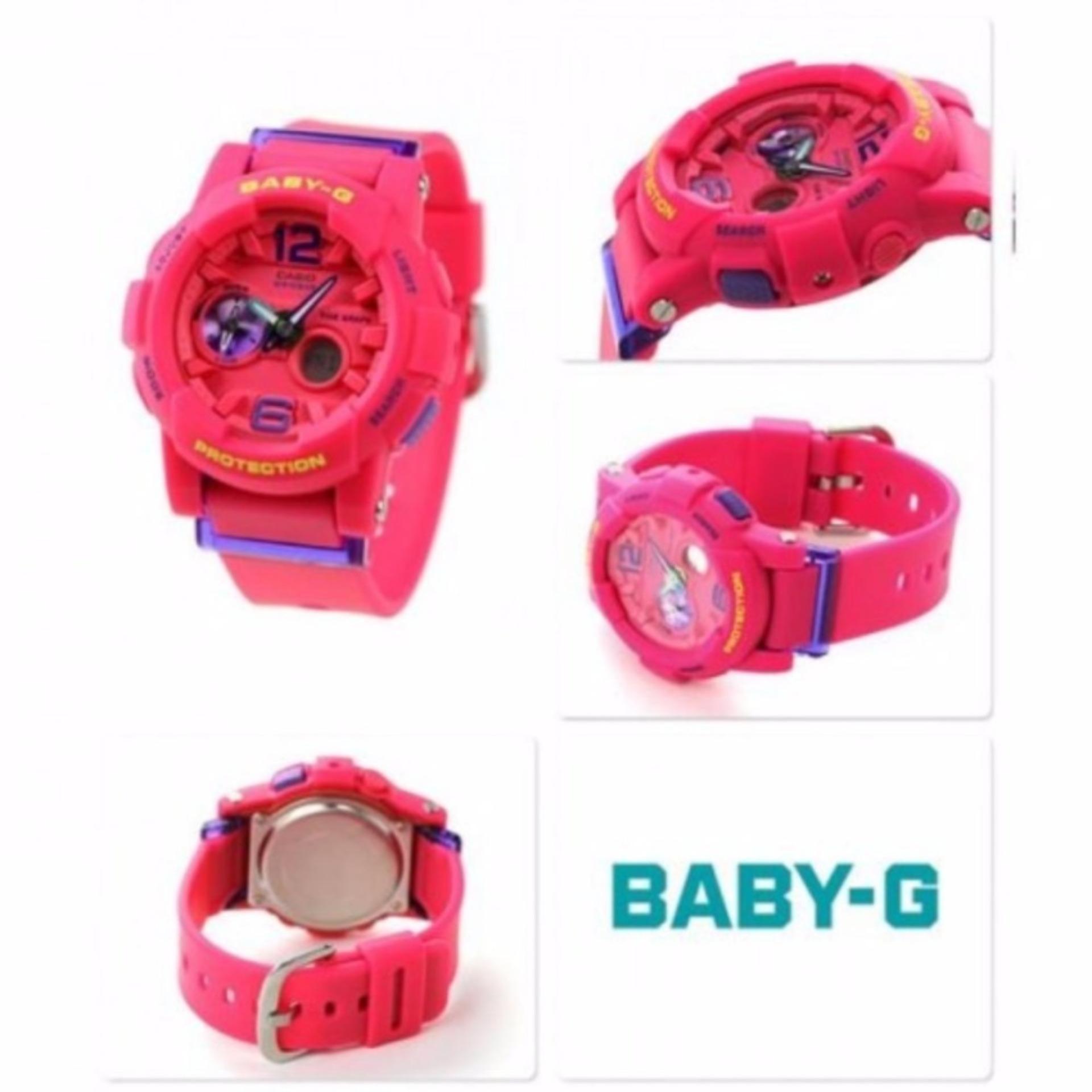 Casio Baby G Bga 180 2b3 Biru Daftar Harga Terkini Termurah Dan Bgs Jam Tangan Wanita Muda Tali Gelang Karet