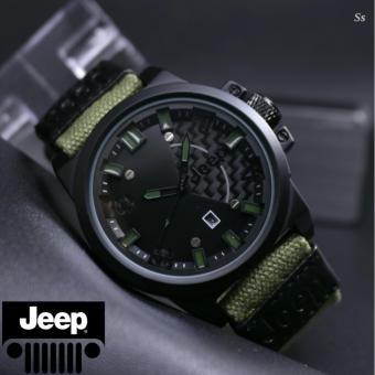 Jeep - Jam tangan Pria Casual - Design Strap Canvas - Fiitur tanggal aktif