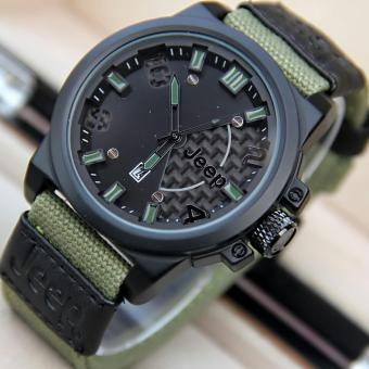 Jeep - Jam tangan Pria - Design Elxclusive - Strap Canvas - Fitur Tanggal Akitf- JP 234 MN