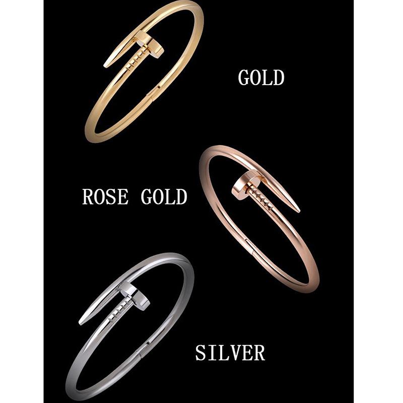 ... Jiayiqi Sekrup Buka Gelang Mawar Emas Dengan Berlian Wanita Gelang