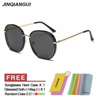 Harga JINQIANGUI kacamata wanita terpolarisasi persegi Titanium Frame berjemur kacamata warna hitam Eyewear merek desainer UV400 Terbaru klik gambar.