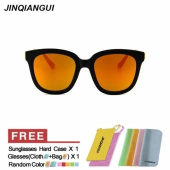 JINQIANGUI Sunglasses Men Square Plastic Frame Sun Glasses Red Color Eyewear  Brand Designer UV400 - intl 7d6361bc9f