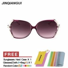 JINQIANGUI Sunglasses Women Butterfly Plastic Frame Sun Glasses Purple Color Eyewear Brand Designer UV400 - intl