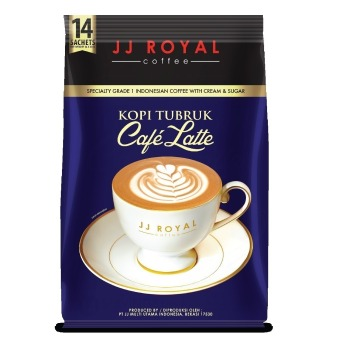 JJ Royal Coffee Kopi Tubruk Cafe Latte Bulkbag @14 Sachets