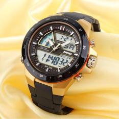JK Sport Watch AD1016 - Jam Tangan Pria Tahan Air - Body & Bezel Black Gold
