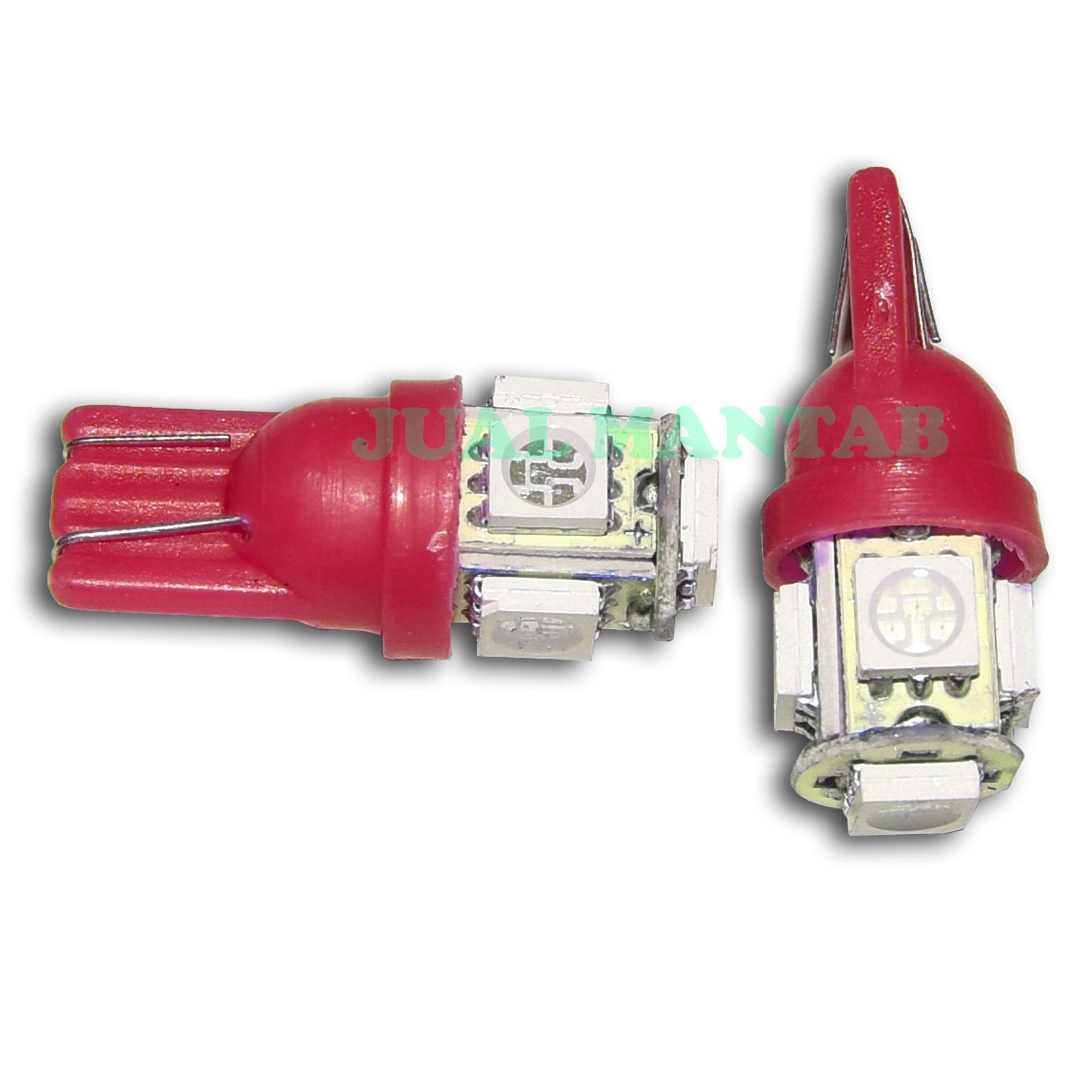 Jm Lampu Variasi Motor Sen Dan Senja 5 Mata Warna Putih Sein T10 7warna Diam 1pc Merah