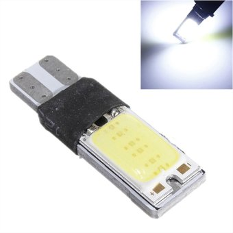 JMS - 1 pair (2 pcs) Lampu LED Plasma Mobil / Motor / Senja T10 / Wedge Side Canbus COB 24 SMD - White