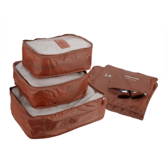 Jo.In New 6PCS Travel Luggage Bag Clothes Organizer Large MediumSmall Size Pouch Handbag Suitcase