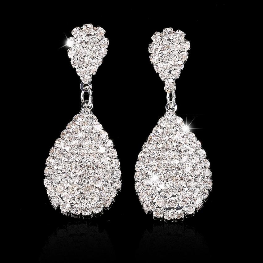 1 Pasang Cewek Sunflower Berlapis Perak Perhiasan Anting Anting Source · In Wanita Perhiasan Berlian Imitasi