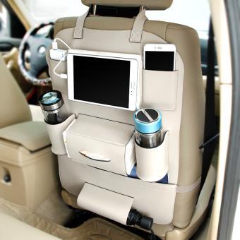 harga Jok kulit mobil mobil mobil kursi belakang Zhiwu Dai mobil kantong Lazada.co.id