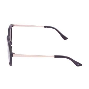 ... Jual JRS Kacamata Unisex Hitam lengan kacamata Gold Bundar Proteksi UV  400 Lensa Kuning Mirror P3042 64a691fcaa