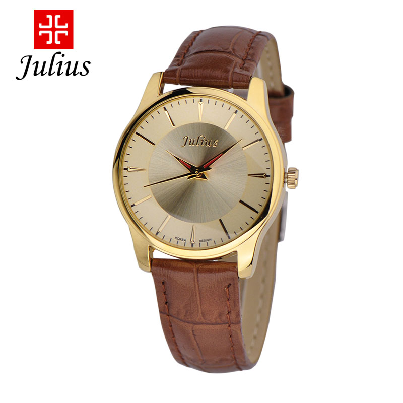 Julius Korea Fashion Style Kalender Sabuk Kulit Jam Tangan Tahan Air Jam  Tangan Pria b1de0e14f0