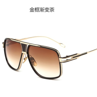 Jurui Merek Eropa dan Tren Pria Fashion Sunglasses Retro Bingkai Logam Kacamata Hitam Wanita Beberapa Round