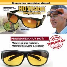 Kaca Mata HD Vision ( 1 box isi 2 ) Anti Silau Kacamata siang dan malam - Babamu