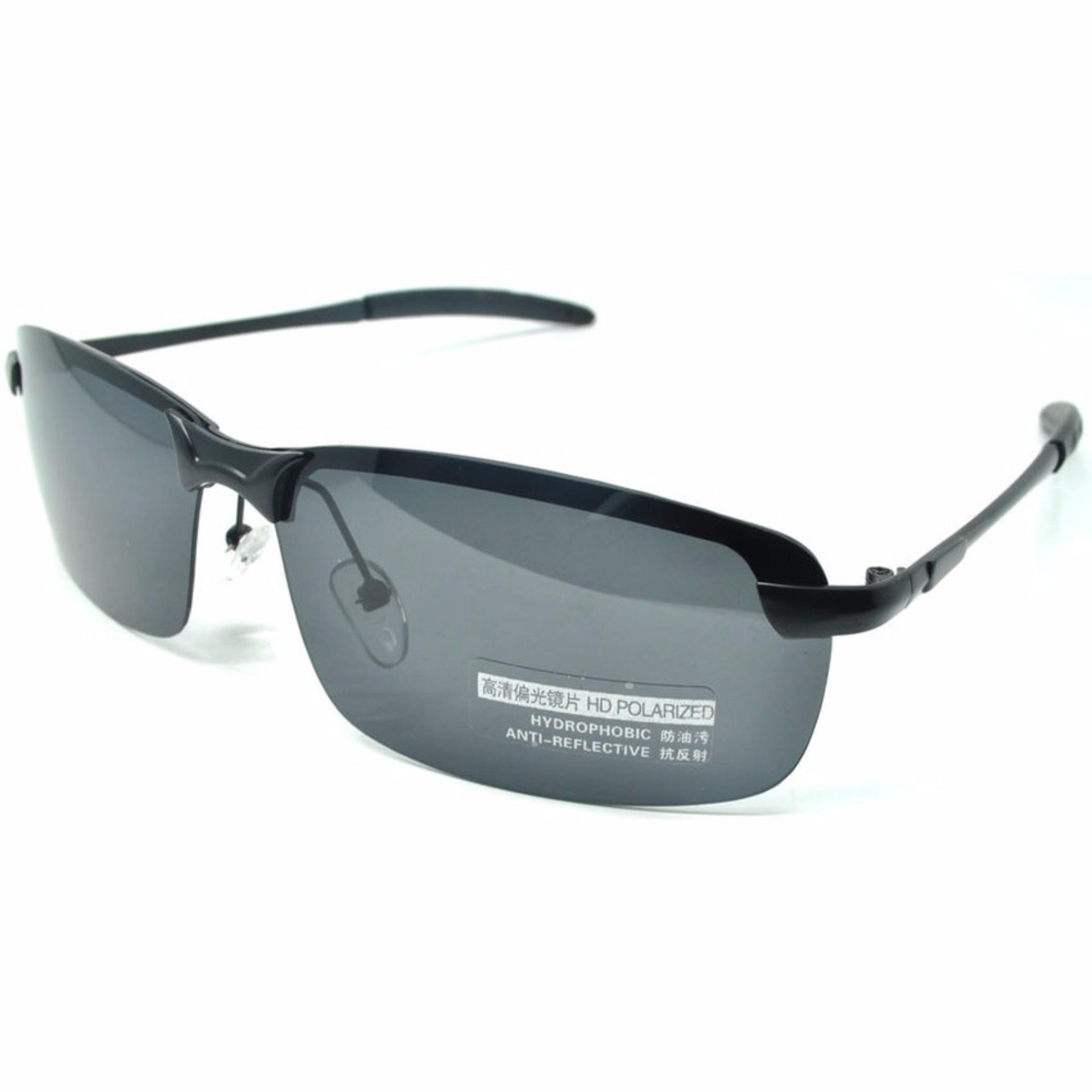 ... Kacamata Hitam Polarized Sunglasses untuk Pria Wanita Fashion Outdoor  Accessories - 3403 - Hitam b386368e99
